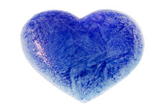 An ice blue heart Royalty Free Stock Image