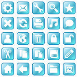 Ice blue icons. Ice blue square icons with rounded corners Royalty Free Stock Photo