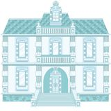 Ice Blue Magic Old Palace Royalty Free Stock Images