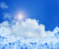 Ice in blue sky Royalty Free Stock Image