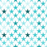 Ice blue stars seamless pattern Royalty Free Stock Images