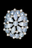 Ice blue vintage brooch Royalty Free Stock Photo