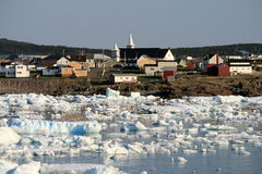 Ice in Bonavista Harbour Royalty Free Stock Photography