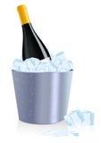 Ice bottle. Illustration, AI file included Royalty Free Stock Image