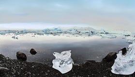 Ice boulder at Glacier lagoon stock photo