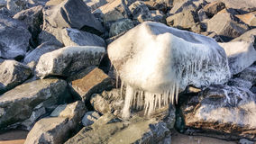 Ice Boulder Royalty Free Stock Photography