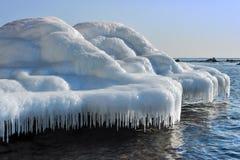 Ice boulders Stock Image