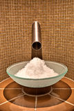 Ice bowl. In a SPA center royalty free stock photo