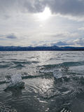 Ice-Break at Lake Laberge, Yukon Territory, Canada Stock Images