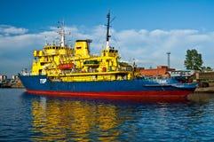 Ice breaker ship Stock Photo