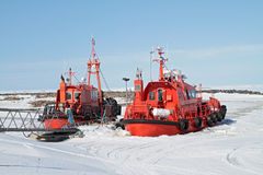 Ice breakers. Two ice breaker ships in harbor Stock Photos