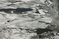 Ice Breaking on a Frozen Lake Stock Photos