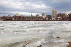 Ice Breaking at Harrisburg Royalty Free Stock Photography