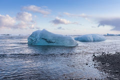 Ice breaking from Jokulsarlon glacier Stock Image