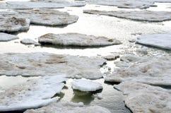 Ice breaking up on lake michigan Stock Photos