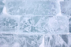 Ice brick wall background Royalty Free Stock Photos