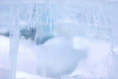 Ice brick wall background Stock Image