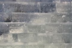 Ice brick wall Stock Image