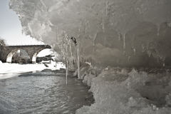 Ice Bridge Stock Photography