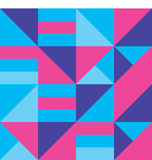 Ice bright seamless vector geometric strip pattern background Stock Photography
