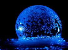 Ice Bubbles. Frozen bubbles outside in the cold winter Stock Photo