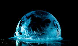 Ice Bubbles. Frozen bubbles outside in the cold winter Stock Images