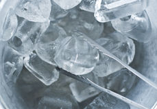 Ice in bucket. Stock Photography