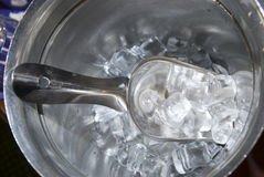 Ice in a bucket Stock Photography
