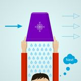 Ice Bucket Challenge. Colored flat illustration. Royalty Free Stock Images