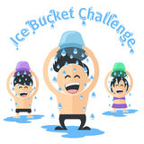 Ice bucket challenge stock illustration
