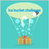 Ice Bucket Challenge concept. Royalty Free Stock Photos