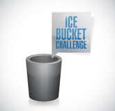 Ice bucket challenge illustration design. Over a white background Stock Image
