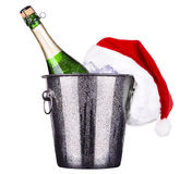 Ice bucket with champagne bottle Royalty Free Stock Images