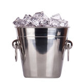 Ice bucket isolated Royalty Free Stock Photography