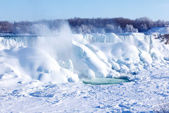 Ice build-up of Niagara Falls, winter of 2015 Royalty Free Stock Photos