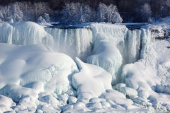 Ice build-up of Niagara Falls, winter of 2015 Royalty Free Stock Photo