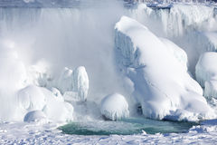 Ice build-up of Niagara Falls, winter of 2015 Stock Photography