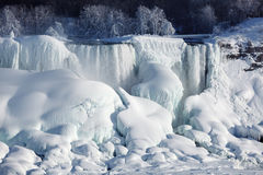 Ice build-up of Niagara Falls, winter of 2015 Royalty Free Stock Photos