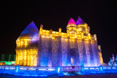 Free Ice Buildings At The Harbin Ice And Snow World Stock Photography - 51099182