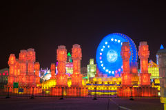 Free Ice Buildings At The Harbin Ice And Snow World Royalty Free Stock Images - 51099429