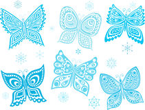 Ice butterflies Royalty Free Stock Image
