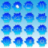 Ice buttons for music player. Blue ice buttons for music audio player royalty free illustration