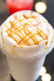 Ice Caffe latte coffee with whipped cream Stock Images