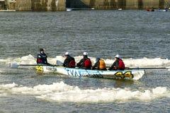 Ice canoe challenge Bota Bota Montreal Royalty Free Stock Images