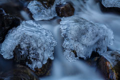 Ice Capped Rocks Royalty Free Stock Images
