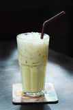 Ice caramel milk Stock Photography