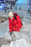 Ice carving Stock Photos