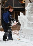 Ice carving Stock Image
