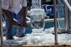 Ice carving Royalty Free Stock Photos