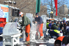 Ice Carving at Winterlude Royalty Free Stock Image